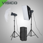 Комплект освещения Visico VL PLUS 400 Softbox Umbrella kit с сумкой